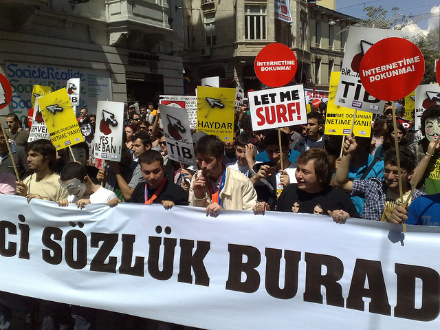 Internet Rights Protest, 2011.  Photo by Kevglobal