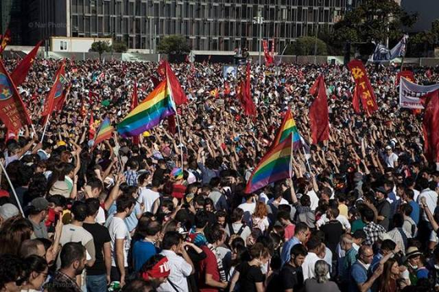 The LGBTI community was prominent in recent protests in Istanbul.  Saner Şen © NarPhotos  Used by permission.