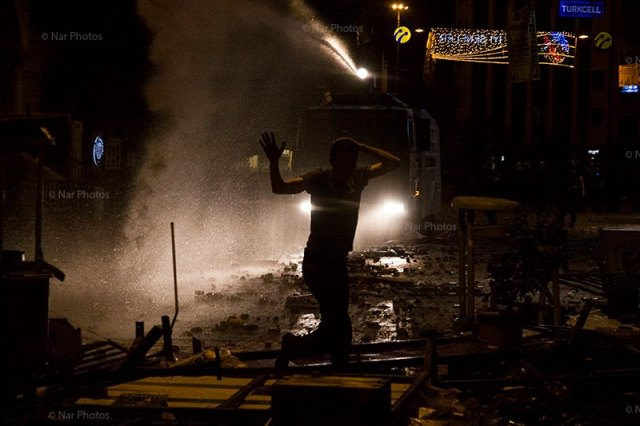 Protests in Istanbul last night.  © Nar Photos/ Eren Aytug  Used by permission