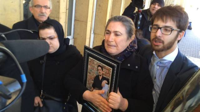 Ali Ismail Korkmaz's family at a previous hearing
